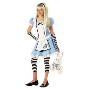 Alice in Wonderland Costume Girls Size Large 12-14